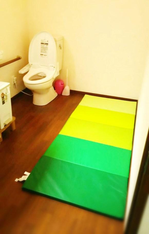 いちごいちえの広々トイレ