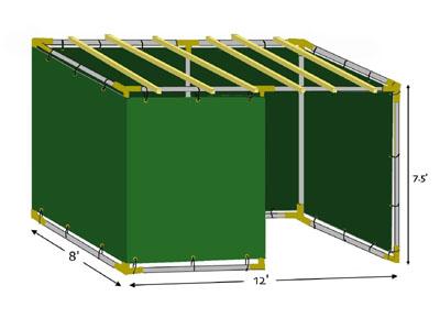 8x12 Tubular Sukkah Kit