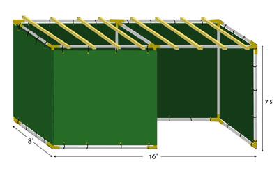 8x16 Tubular Sukkah Kit