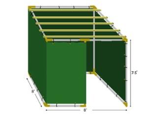 8x8 Tubular Sukkah Kit