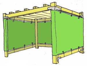 8x8 Wood-Frame Sukkah Kit