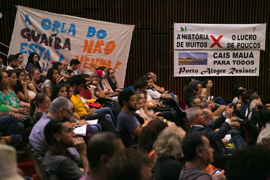 16/03/2016 - PORTO ALEGRE, RS - Audiência Pública sobre o Cais Mauá, na Assembleia Legislativa. Foto: Guilherme Santos/Sul21