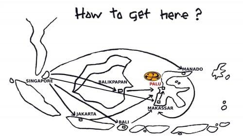 Map of Tanjung Karang Sulawesi