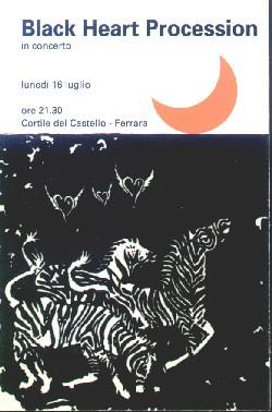 The Black Heart Procession Ferrara locandina flyer gig