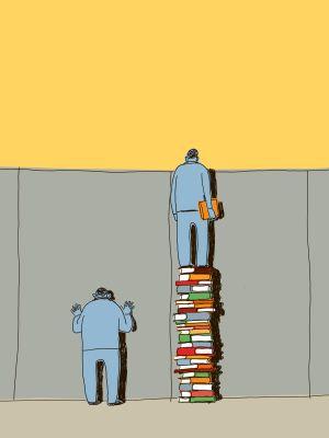 Guido Scarabottolo muro e libri