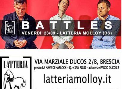 Battles Ian Williams Brescia gig poster locandina