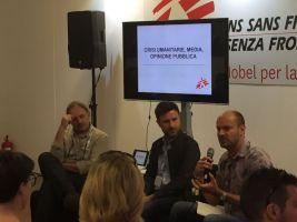 MSF Sergio Cecchini, direttore della comunicazione MSF Belgio e Francesco Zizola, fotografo. Introduce e modera: Frangois Dumont, direttore comunicazione MSF Italia.