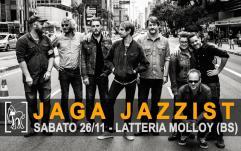 Jaga Jazzist locandina Latteria Molloy BS