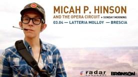 Micah P. Hinson Brescia locandina Latteria Molly gigi poster