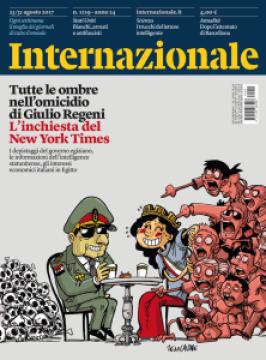 Copertina di Zerocalcare per Giulio Regeni su Internazionale 25/31 agosto 2017 Numero 1219
