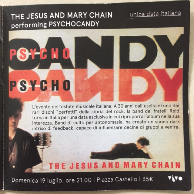 Ferrara Sotto le stelle 2015 flyer The Jesus and Mary Chain