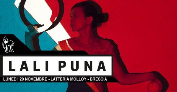 Lali Puna Brescia gig poster