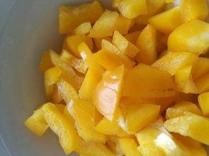 sliced yellow capsicum