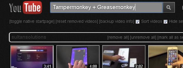 YouTube-Greasemonkey-Tampermonkey
