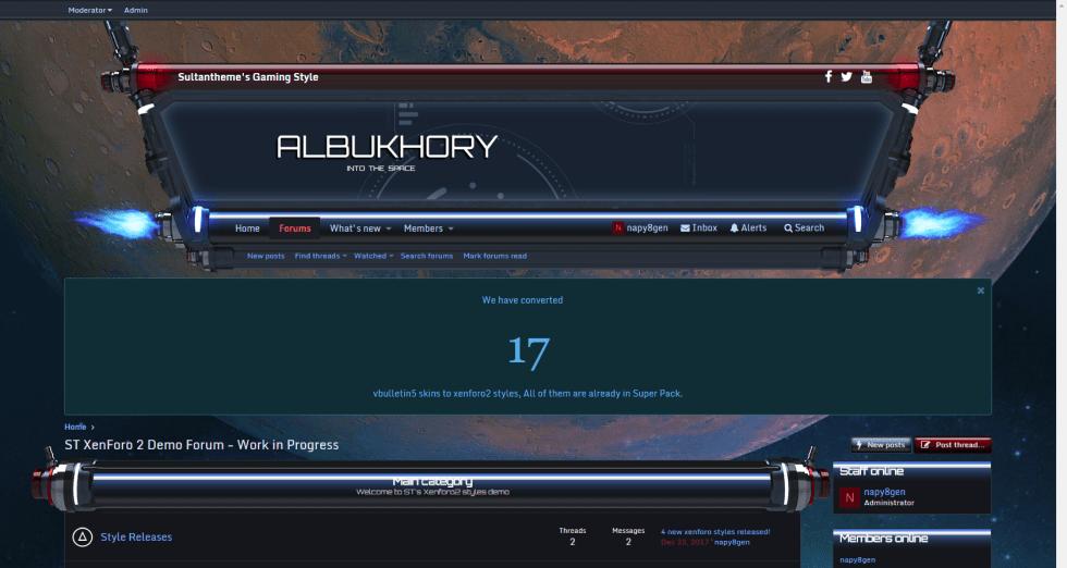 bukhory 1 - 7 new xenforo2 styles released!