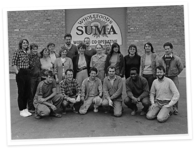 Suma Wholefoods Co-op Members in the 70s