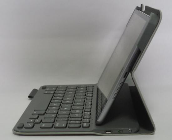 LOGICOOL ウルトラスリム キーボード フォリオ for iPad mini TM725 横から