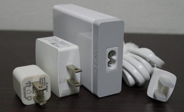 Anker PowerPort 6 Lite 電源部分