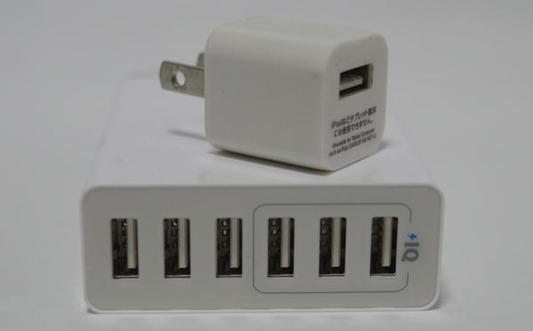 Anker PowerPort 6 Lite ポート部分拡大