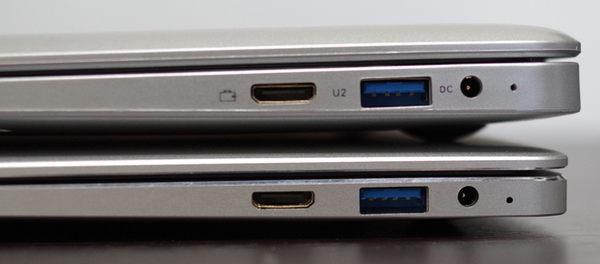 Jumper EZBook 3SE 右側ポート類