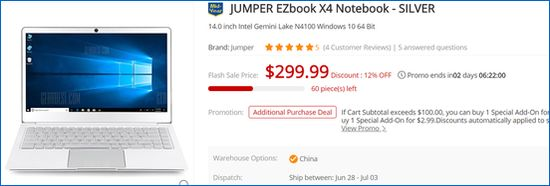 Gearbest Jumper EZBook X4