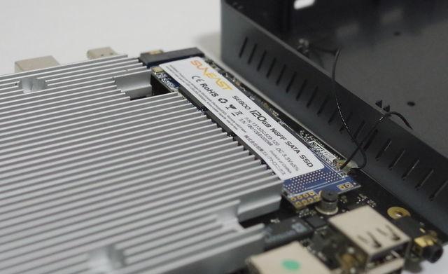Alfawise T1 SSD取付後