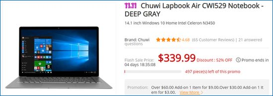 Gearbest Chuwi Lapbook Air