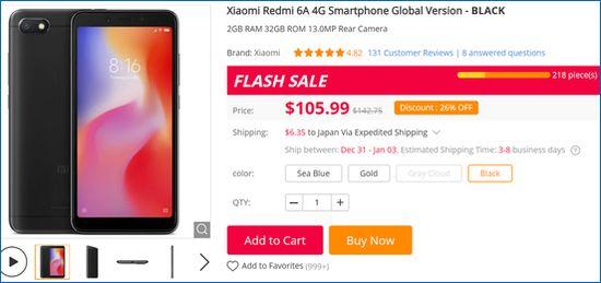 Gearbest Xiaomi Redmi 6A