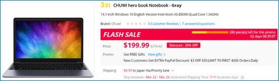 Gearbest CHUWI hero book