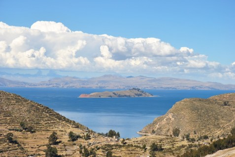 Incredible view from Sun Island and Lake Titicaca, Bolivia