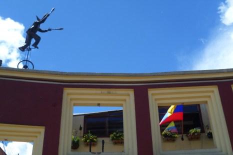 Chorro de Quevedo in the heart of La Candelaria (Bogota)