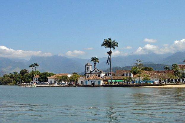View of Paraty during a boat excursion