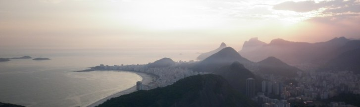 Watching sunset from the Sugar Loaf Mountain in Rio de Janeiro