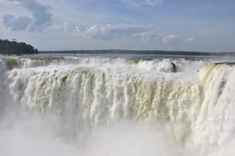 The impressive Iguazu Falls