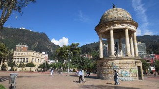"The ""Journalists' Square"" in Bogota city centre, Colombia"