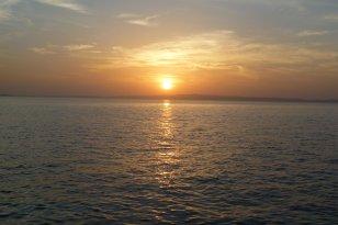 Sunset on the Caribbean Coast, Colombia Adventure