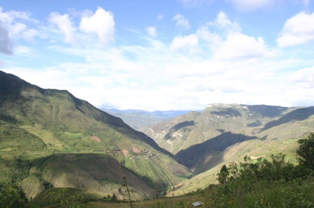 Chachapoyas landscape, Northern Peru Andes