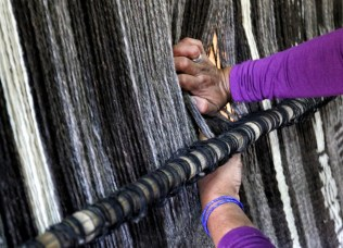Wool-weaving is an arduous, thankless task