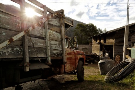 Most Mapuche families have trucks to carry firewood and livestock