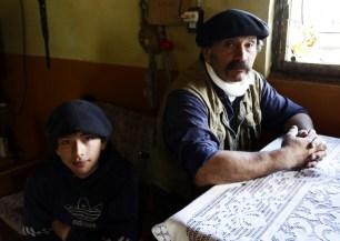 Anastacio and his son, true gauchos.