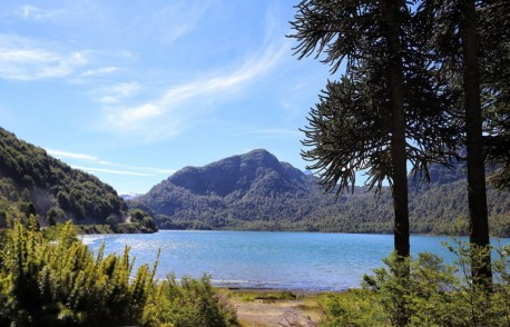 Pristine clear water lakes are abundant in the Araucania region of Chile