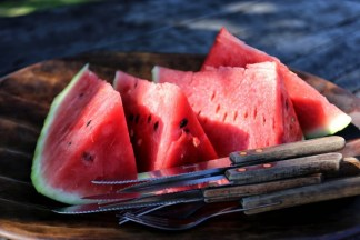 Fresh watermelon after our exertions in the national park