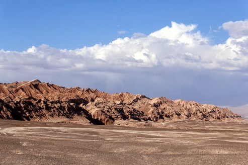 The Moon Valley or Valle de la Luna near San Pedro de Atacama in Chile