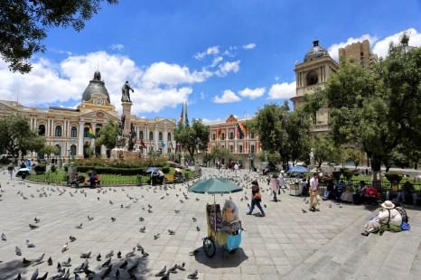 Plaza de Murillo in La Paz, Bolivia
