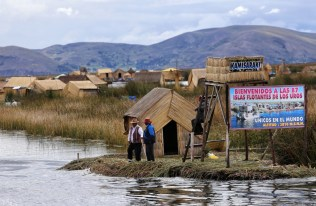 The people of Uros welcome travellers to their islands on Lake Titicaca