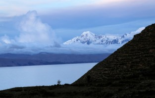 The Cordillera Real mountain range Sun Island