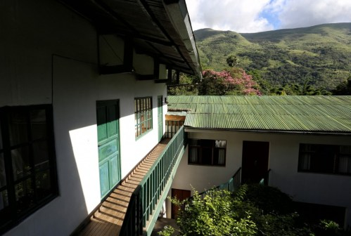 One of the old warehouses where the coffee and cocoa beans are dried, prepared and distributed
