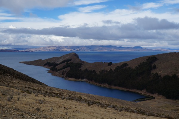 A view from a corner of Lake Titicaca, Bolivia