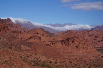 The hills in the Quebrada de Humahuaca, near Salta in Argentina
