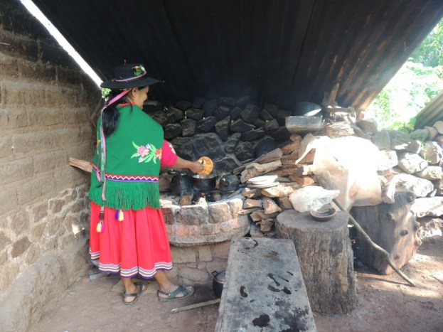 Tortas fritas being cooked in the rural Yungas region, Argentina